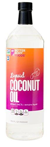 BetterBody Foods Organic Liquid Coconut MCT Oil, 33.8 Ounce (Organic Liquid Coconut Oil)