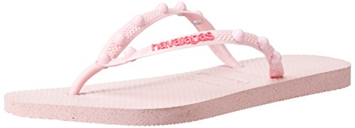 Havaianas Women Slim Crystal - Havaianas Women's Slim Candy Sandal Flip Flop, Crystal Rose, 41 BR/11/12 M US