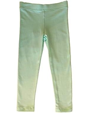 Clothes Girls Light Green Leggings (4)