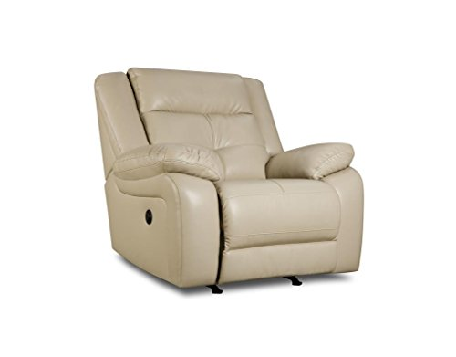 Marvelous Simmons Upholstery Miracle Pearl Bonded Leather Rocker Recliner