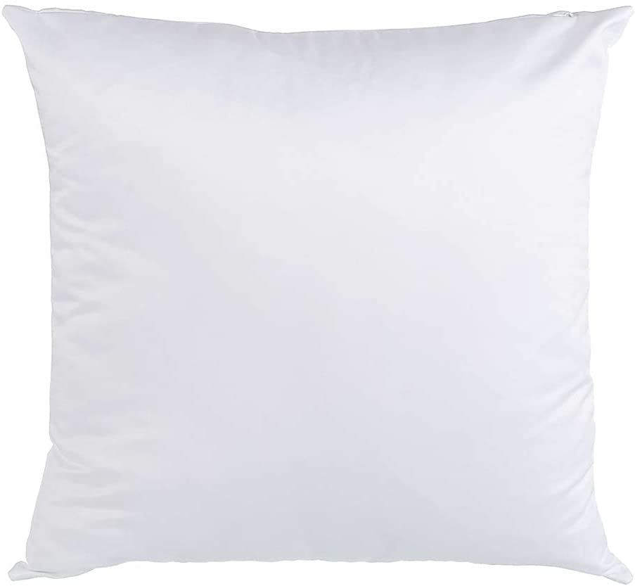 CALCA 10Pcs Plain White Sublimation Blank Pillow Case Covers Decorative Pillows Fashion Cushion Cover Heat Press Printing Pillowcase Cover with Concealed Zippers