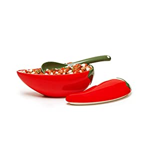 Prepworks by Progressive Salsa Bowl with Spoon – Great for Homemade Salsa and Pico De Gallo, Dips, Party foods…