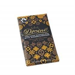 Divine Chocolate Dark Choc Ginger & Orange 100G X 2 ()