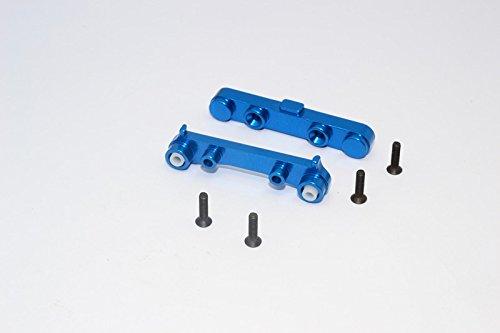 Team Losi Mini 8ight & 8ight-T Upgrade Parts Aluminum Rear Suspension Mount - 2Pcs Blue ()