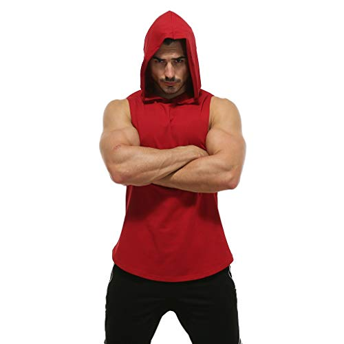 Vest Tank Fashion Men Summer Hooded Sport Sleeveless
