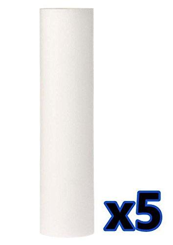 "5x Anti Sediment 10"" Polypropylene Water Filter 5um Cartridge Removes Solids"