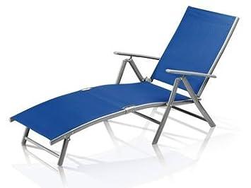 Florabest Bleu Chaise Longue Bain De Soleil Aluminium Amazon Fr