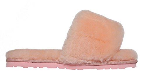 Women's SLPR Slide Slippers Pink Sheepskin 70w1vdq6wx