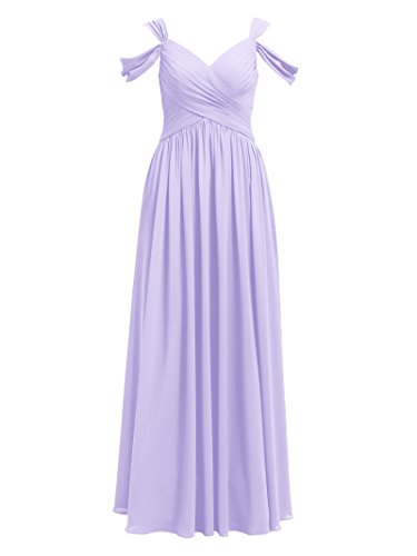 Formal Dress Party Lilac Chiffon Pleated Event Alicepub Maxi for Long Bridesmaid Dress AY48vqx