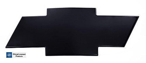 (AMI 2001-2002 Chevrolet Silverado 2500 3500 HD Front Grille Bowtie Emblem - Black w/o Border)