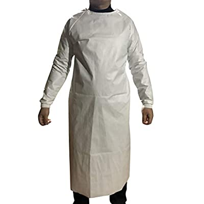 HebeTop Disposable Protective Clothing, Medical Isolation Gowns, Blue Protective Coverall - Elastic Cuffs: Clothing