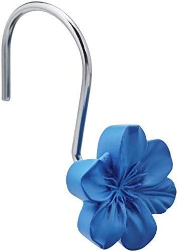 Amazon Basics Shower Curtain Hooks - Flower, Blue