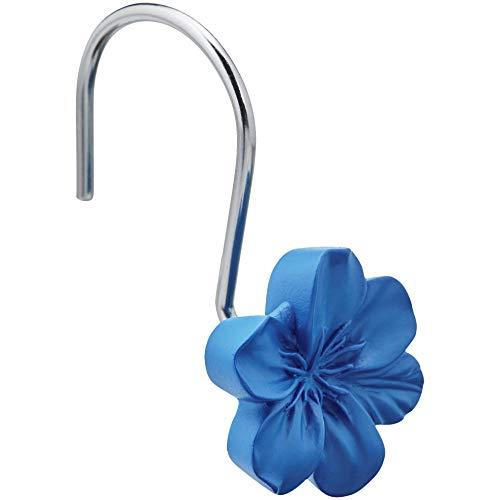 - AmazonBasics Shower Curtain Hooks - Flower, Blue