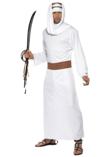 Lawrence Of Arabia Fancy Dress Costume (Smiffy's Men's Lawrence of Arabia Costume, Gown, Headpiece and Belt, Around the World, Serious Fun, Size M, 20373)