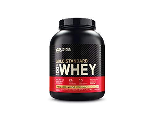 Optimum Nutrition Gold Standard 100% Whey Protein Isolate Powder, French Vanilla Creme, 5 Lb