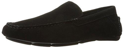 Calvin Klein Men's Miguel Suede Slip-on Loafer, Black, 12 M US (Calvin Klein Black Suede Loafers)