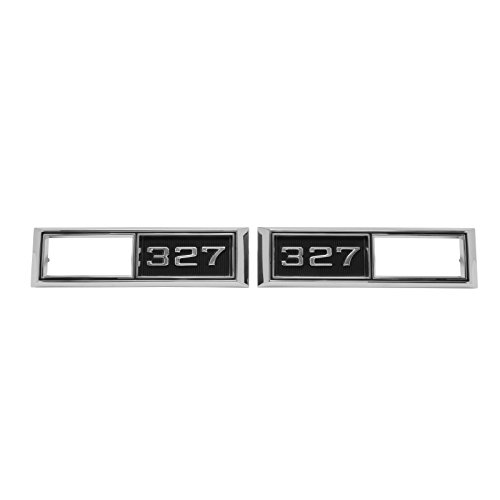 (Eckler's Premier Quality Products 50-203580 Chevelle Front Marker Light Bezels, 327,)