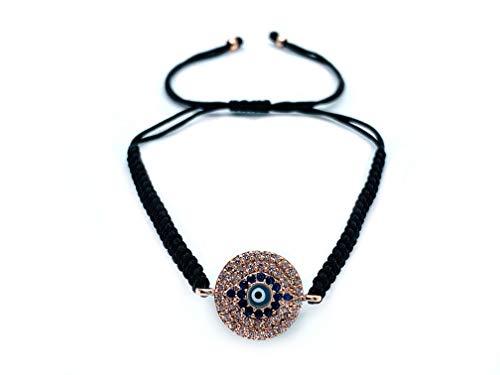Best Luck Handmade Adjustable Evil Eye Bracelet I Red and Blue Braided String I Bring Good Luc