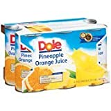 Dole Pineapple Orange Juice, 6 fl oz, 6 count(Case of 2)