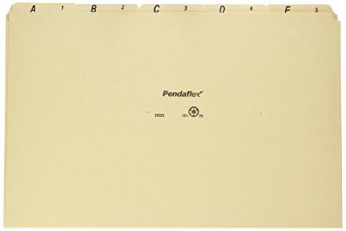- Pendaflex EN325 A-Z Top Tab Recycled File Guides, 18 pt. Manila, 1/5 Tab, Legal Size, 25/set