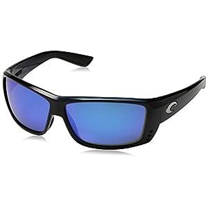 Costa Del Mar Cat Cay Sunglasses, Black, Blue Mirror 580 Glass Lens