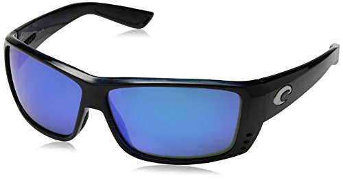Costa Del Mar Cat Cay Sunglasses, Black, Blue Mirror 580 Glass - 580 Glass Costa