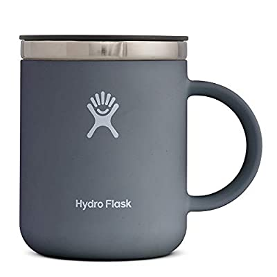 Hydro Flask 12 oz Travel Coffee Mug - Stainless Steel & Vacuum Insulated - Press-In Lid - Multiple Colors