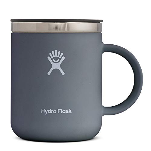 Hydro Flask 12 oz Travel Coffee Mug – Stainless Steel & Vacuum Insulated – Press-In Lid – Stone