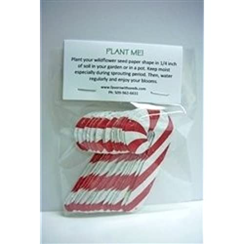 15 plantable wildflower candy canes in a bag