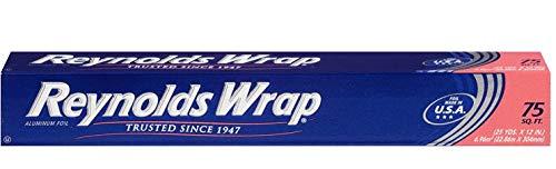 Reynolds Wrap Standard NLfajq Aluminum Foil - 75 Square Feet (Value Pack)