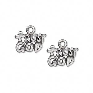 Charm antiqued pewter (tin-based alloy) 15x10mm single-sided 2-tiered