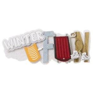KAREN FOSTER 3-D Title Sticker - Winter Fun