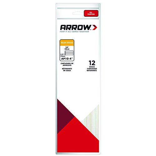 Arrow AP10-4i Lot de 12 Bâ tons de colle 12 x 254 mm