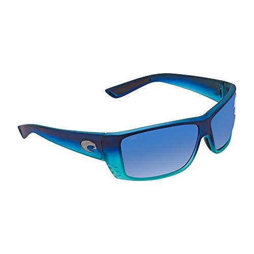 Costa Del Mar Cat Cay Sunglasses, Matte Caribbean, Blue Mirror 580 Plastic Lens 73 Brown Frame Sunglasses