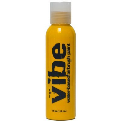 Yellow Airbrush Makeup - 1 oz. Vibe YELLOW Professional Water Based Airbrush Makeup