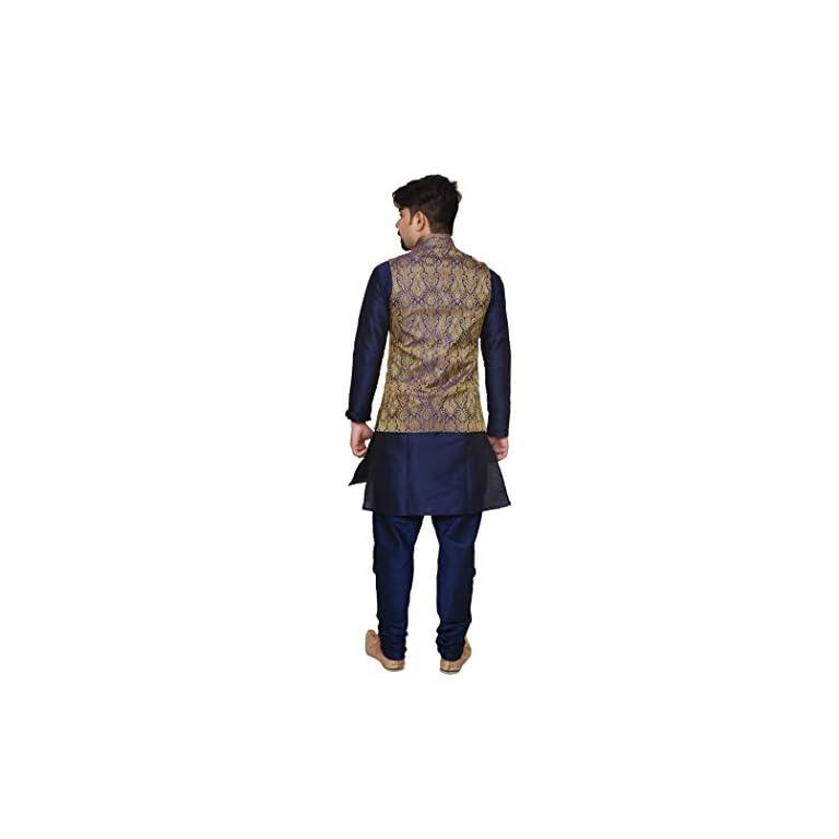31soDBOCJOL. SS768  - Mag Men's silk Kurta Churidhar With Waistcoat
