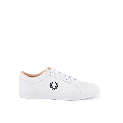 Fred Perry Men's Baseline Canvas Sneaker, Grey Blanc