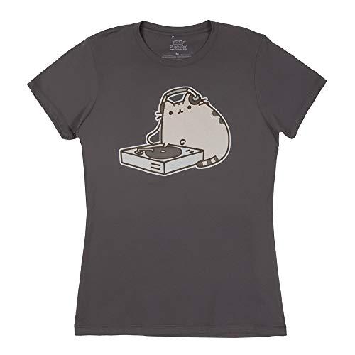 Pusheen The Cat DJ Pusheen Juniors Tee Shirt (Small)