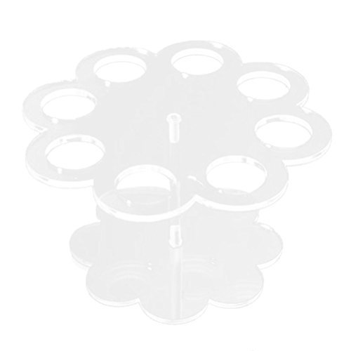 VORCOOL Acrylic Ice Cream Cone Holder Stand with 8 Holes (Transparent)