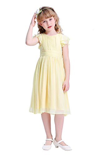 8fb85a161886 Happy Rose Flower Girl s Dress Prom Party Dresses Bridesmaid Dress Yellow 14