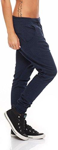 Yoga Blu Taglia Pulsanti Aladin Donna Scuro Harem Sbuffo malito 8023 Unica Classic Pump Pantaloni Pantaloni Baggy Boyfriend ZwqnqtvXO