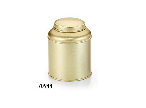 DETHLEFSEN /& BALK GMBH Tea Canister Globe Golden 100g Stainless Steel Gold 9 x 11.5 x 9 cm