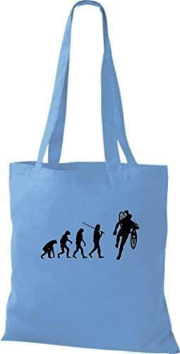 Shirtinstyle - Cotton Fabric Bag Women - Light Blue