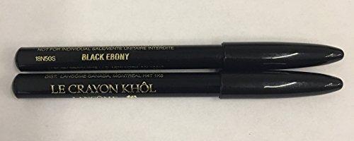 Le Crayon Khol Black Ebony smoky eyeliner travel size Duo 0.7g x - Khol Pencil