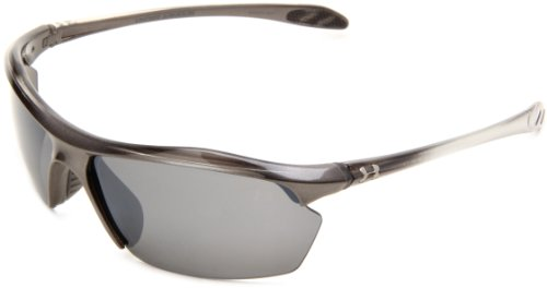 Under Armour Zone XL Multiflection Sport Sunglasses, Shiny Metallic Graphite Fade Frame/Gray Lens, one size