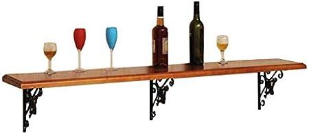 HJXSXHZ366 Estantería de Vino Estantes de Vino montados en la Pared de Madera de Pino, estantes flotantes montados en la Pared Retro Retro a la Cocina, Bar, Restaurante Estante de Vino pequeño