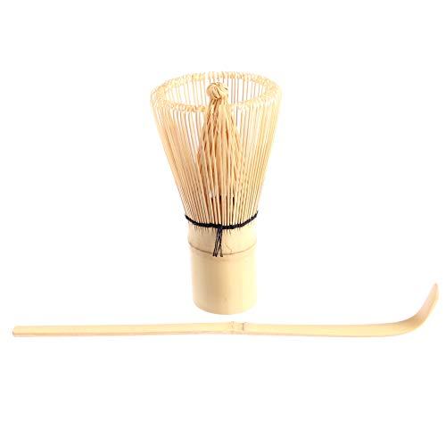 Goodwei Kit Utensilios para te Matcha Batidor de bambu Chasen 120 Varillas con Cuchara Chashaku