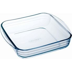Arc International Arcuisine Borosilicate Square Roaster - 8.25