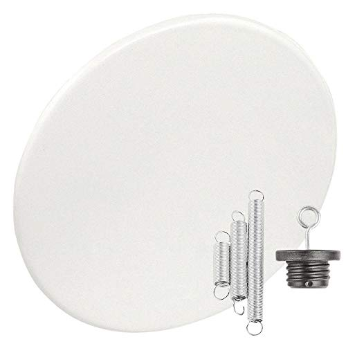- Garvin CBC-800 Recessed Blank-Up Cover Plate, 8-Inch Diameter, Steel, White
