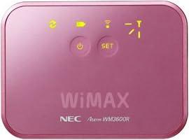 日本電気 モバイルWiMAXルータ AtermWM3600R ピンク PA-WM3600R(AT)P